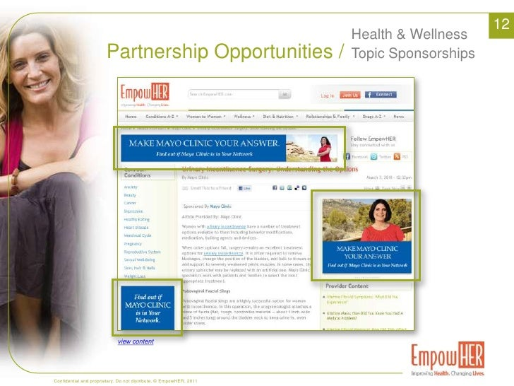 Value /<br />Our Growth & Recognition vs Competition<br />6<br />EmpowHER Visits 2010 vs. Competitors<br />WomensHealth<br...