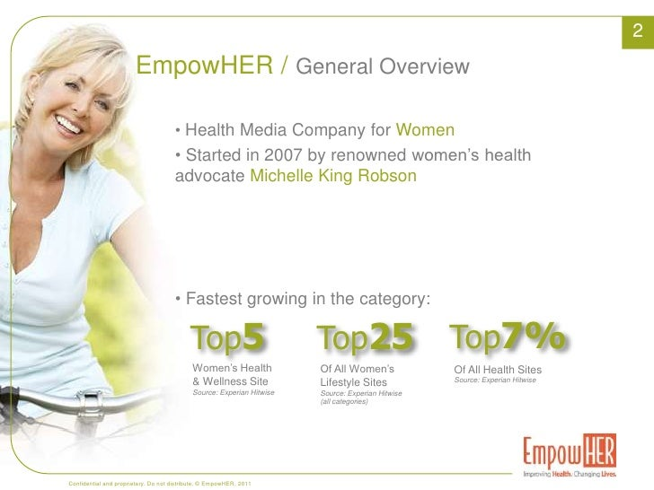 2<br />EmpowHER /<br />General Overview<br /><ul><li>Health Media Company for Women