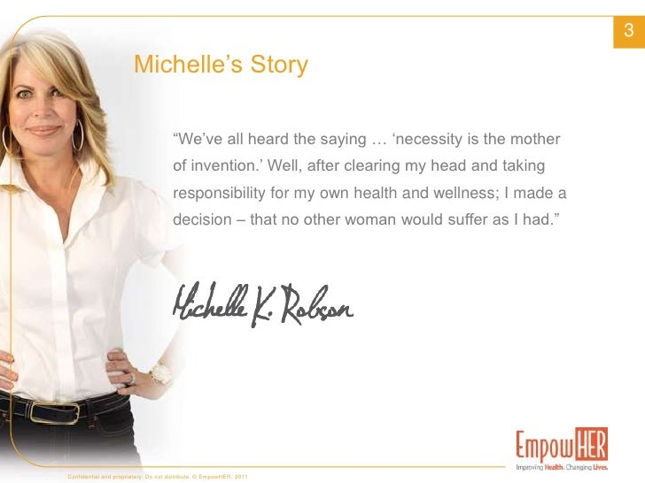 Started in 2007 by renowned women's health advocate Michelle King Robson