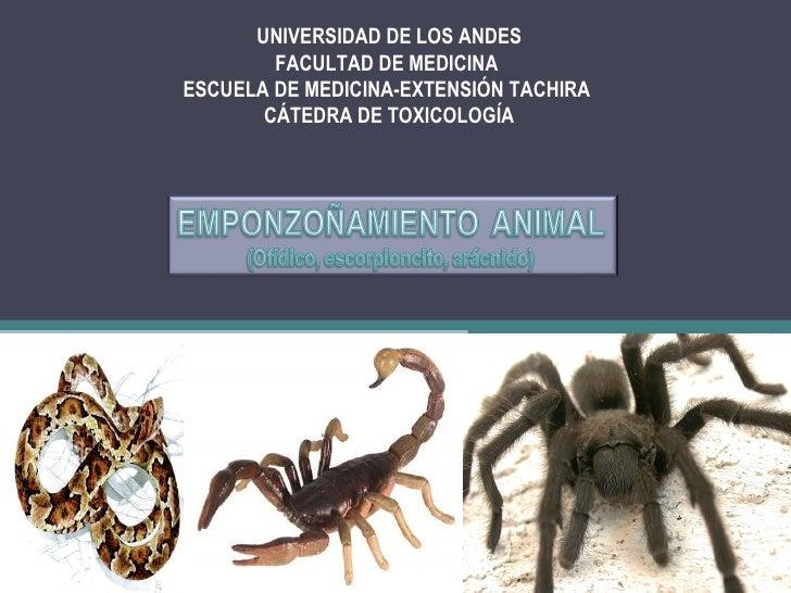 UNIVERSIDAD DE LOS ANDES        FACULTAD DE MEDICINAESCUELA DE MEDICINA-EXTENSIÓN TACHIRA       CÁTEDRA DE TOXICOLOGÍA