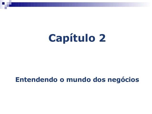 Capítulo 2Entendendo o mundo dos negócios