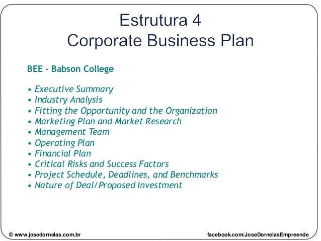 © www.josedornelas.com.br facebook.com/JoseDornelasEmpreende BEE - Babson College • Executive Summary • Industry Analysis ...