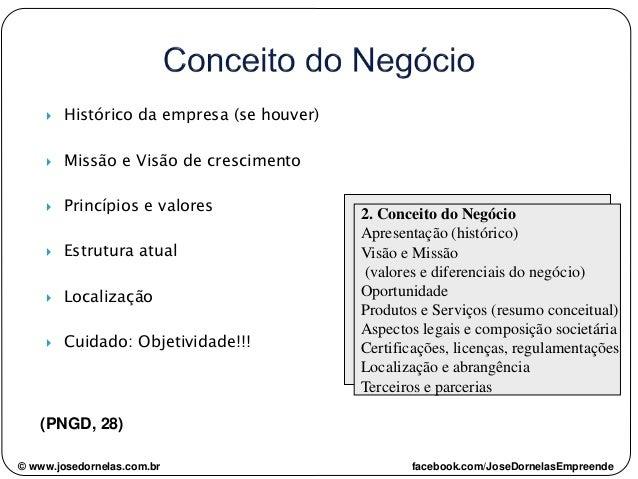  Histórico da empresa (se houver)  Missão e Visão de crescimento  Princípios e valores  Estrutura atual  Localização ...
