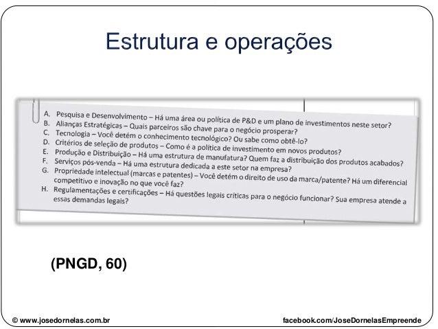 (PNGD, 60) © www.josedornelas.com.br facebook.com/JoseDornelasEmpreende