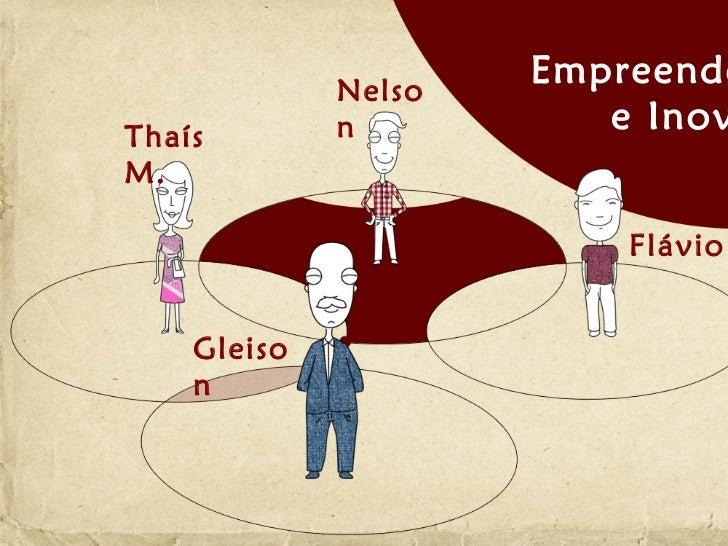 Nelso                     EmpreendeThaís        n          e InovM.                         Flávio    Gleiso    n
