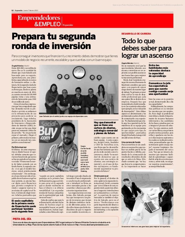 Impreso por Pedro Trucharte Palomo. Propiedad de Unidad Editorial. Prohibida su reproducción.12 Expansión Jueves 7 febrero...
