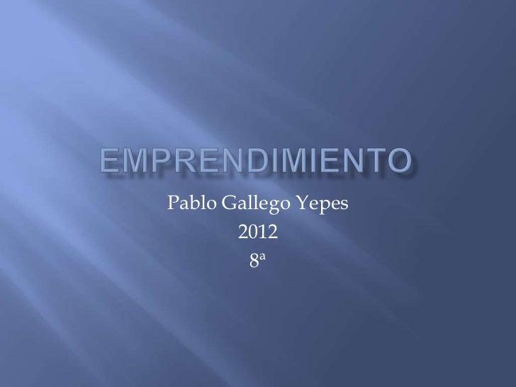 Pablo Gallego Yepes       2012        8ª