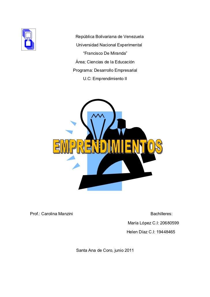 República Bolivariana de Venezuela                           Universidad Nacional Experimental                            ...