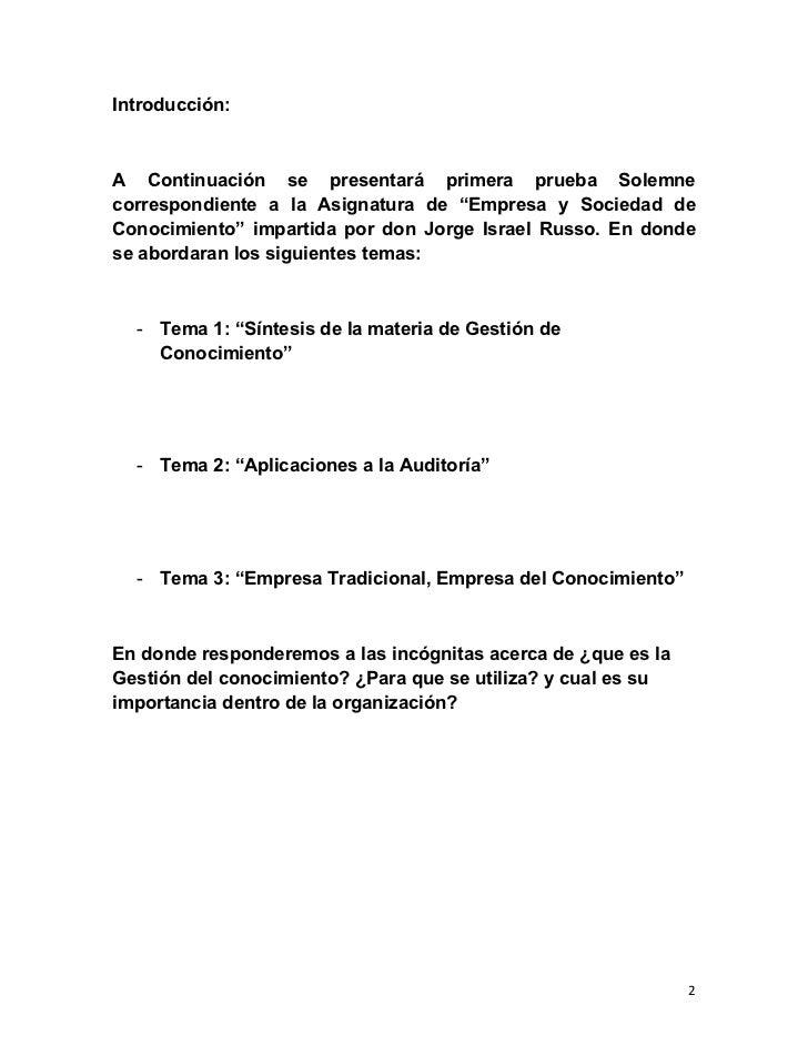 """Introducción:A Continuación se presentará primera prueba Solemnecorrespondiente a la Asignatura de """"Empresa y Sociedad deC..."""