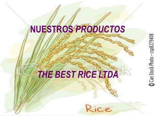 NUESTROS PRODUCTOS THE BEST RICE LTDA