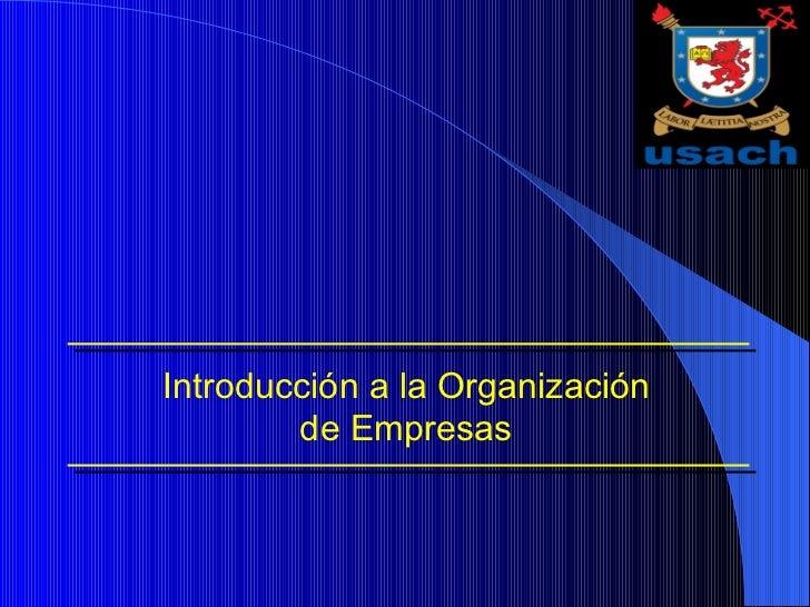 Introducción a la Organización de Empresas