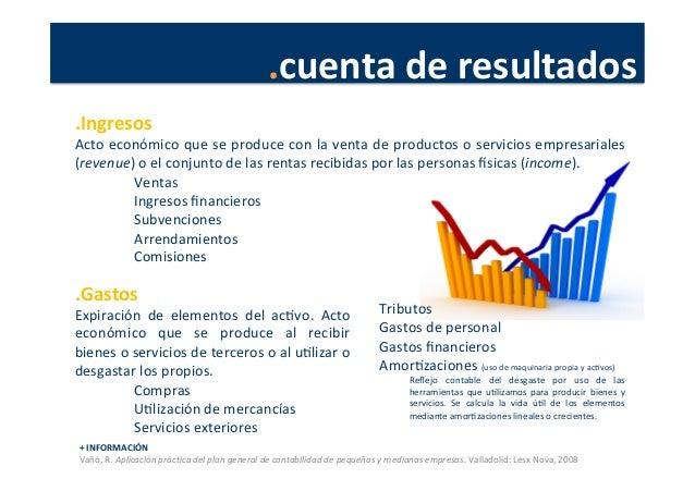 .cuenta  de  resultados   +  INFORMACIÓN   Vañó,  R.  Aplicación  prác4ca  del  plan  general  de...