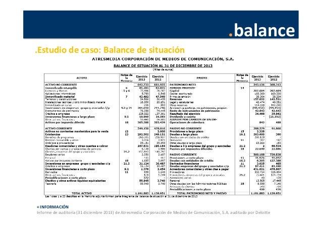.balance   +  INFORMACIÓN   Informe  de  auditoría  (31  diciembre  2013)  de  Atresmedia  Corporaci...