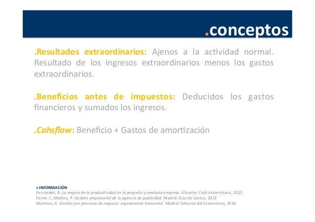.conceptos   +  INFORMACIÓN   Fernández,  R.  La  mejora  de  la  produc4vidad  en  la  pequeña  ...