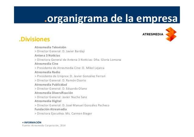 .organigrama  de  la  empresa   Atresmedia  Televisión   >  Director  General:  D.  Javier  Bardají...