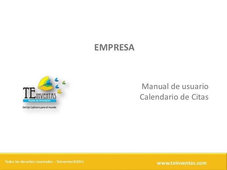 EMPRESA                                                            Manual de usuario                                      ...