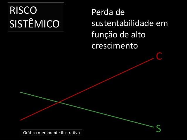 RISCO SISTÊMICO Gráfico meramente ilustrativo Perda de sustentabilidade em função de alto crescimento S C