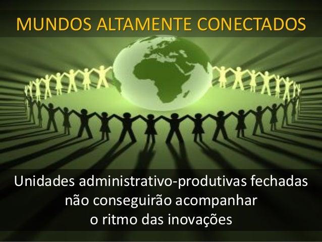 Unidades administrativo-produtivas fechadas não conseguirão acompanhar o ritmo das inovações MUNDOS ALTAMENTE CONECTADOS
