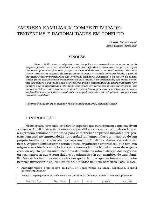 37EMPRESA FAMILIAR X COMPETITIVIDADE:TENDÊNCIAS E RACIONALIDADES EM CONFLITO                                              ...