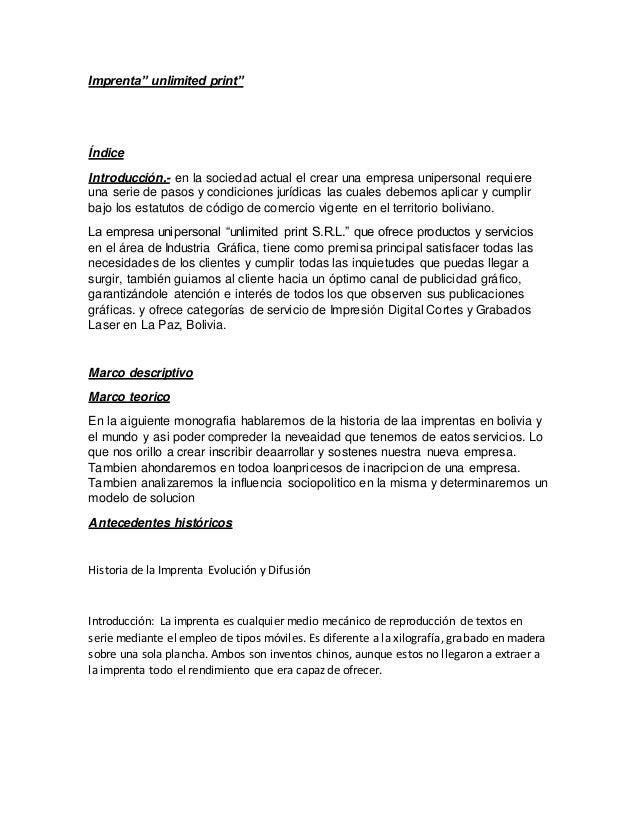 Creación Legal De Una Imprenta
