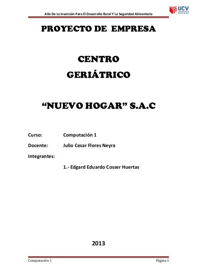 proyecto clinica geriatrica nuevo hogar