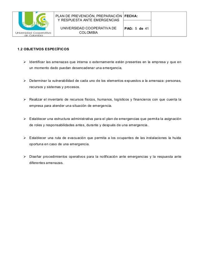 Empresa Plan De Emergencia Bloque Unión Holkan