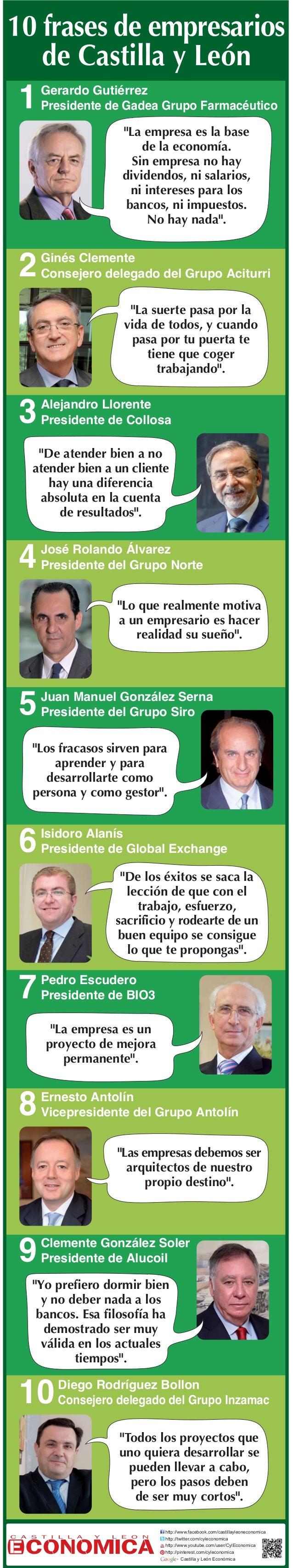 """10 frases de empresarios de Castilla y Le—n  1  Gerardo GutiŽrrez Presidente de Gadea Grupo FarmacŽutico  """"La empresa es l..."""