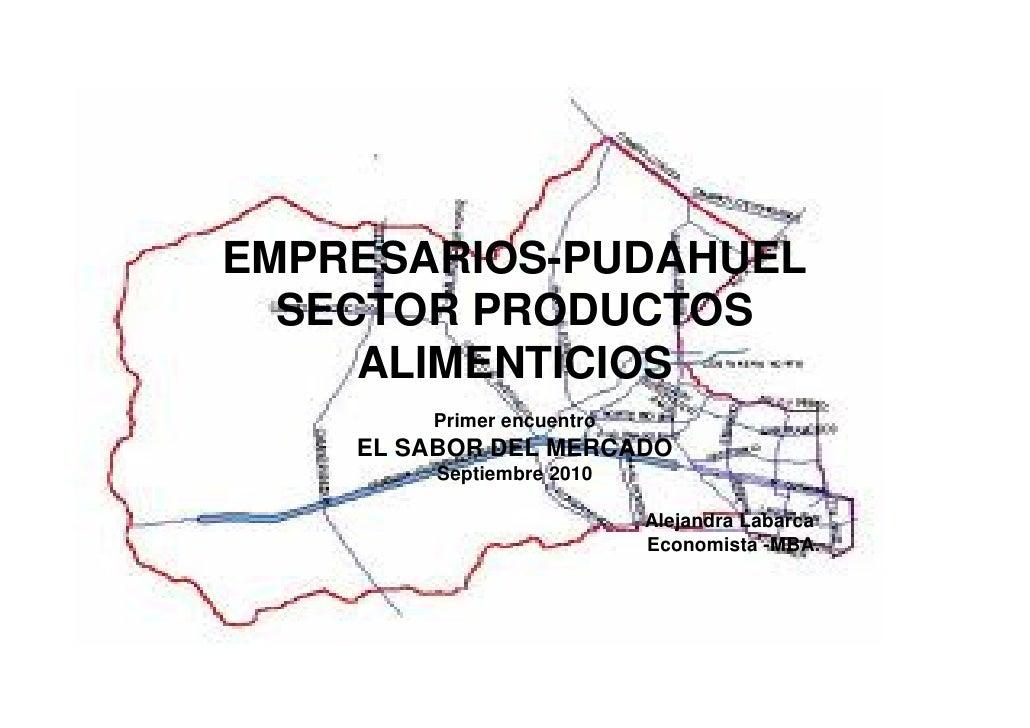 EMPRESARIOS-PUDAHUEL   SECTOR PRODUCTOS      ALIMENTICIOS         Primer encuentro     EL SABOR DEL MERCADO          Septi...