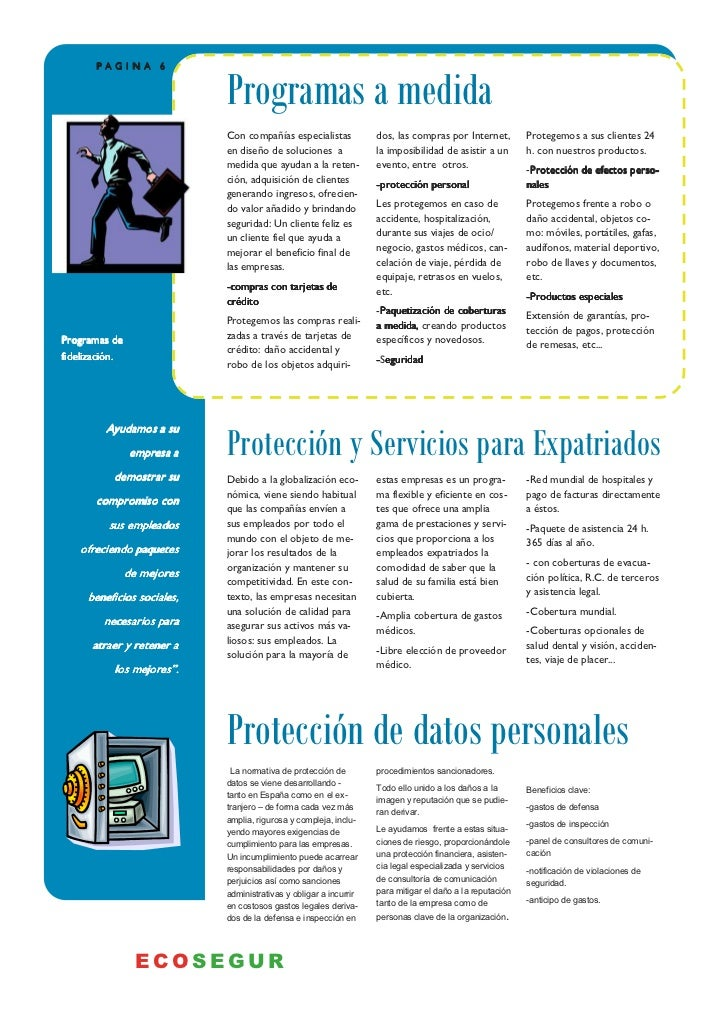 PAGINA 6                             Programas a medida                             Con compañías especialistas           ...