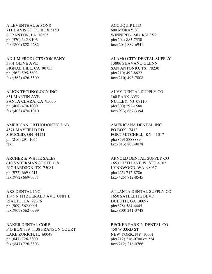 A LEVENTHAL & SONS               ACCUQUIP LTD 711 DAVIS ST PO BOX 5150         600 MORAY ST SCRANTON, PA 18505            ...