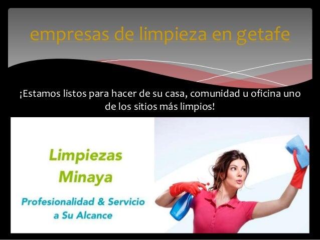 Empresas de limpieza en madrid for Oficina de empleo getafe