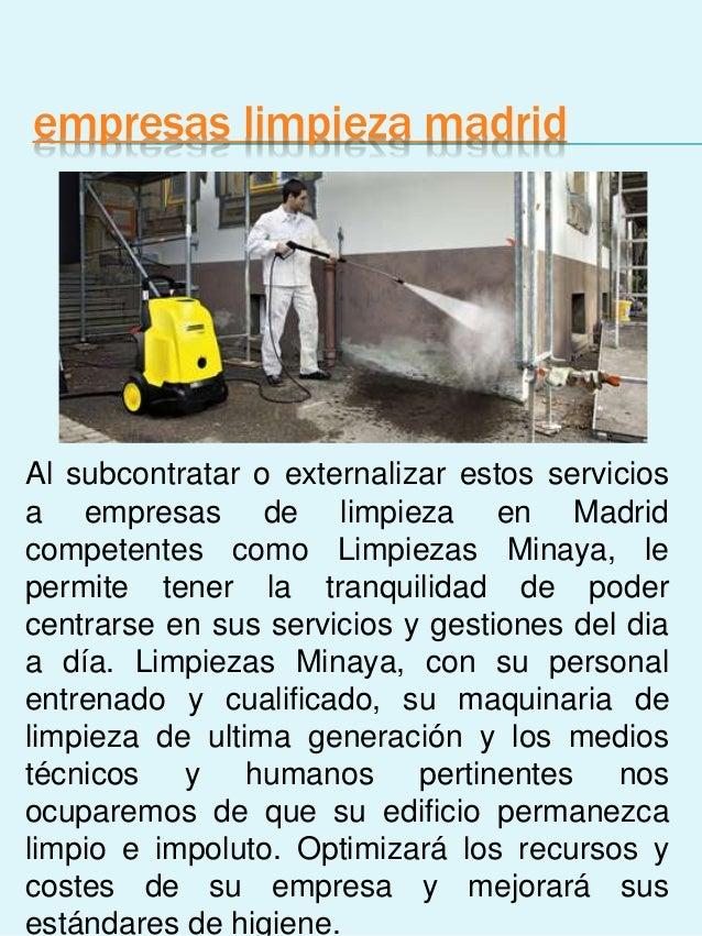 Empresas de limpieza en madrid for Empresas de limpieza en castellon