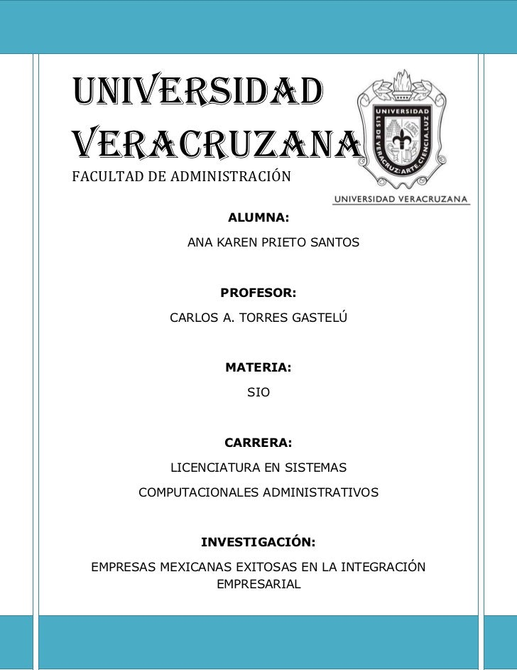 3712934-70455UNIVERSIDAD VERACRUZANAFACULTAD DE ADMINISTRACIÓNALUMNA:ANA KAREN PRIETO SANTOSPROFESOR:CARLOS A. TORRES GAST...
