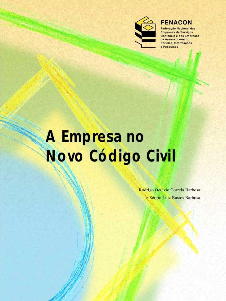 Empresas novo codigo civil
