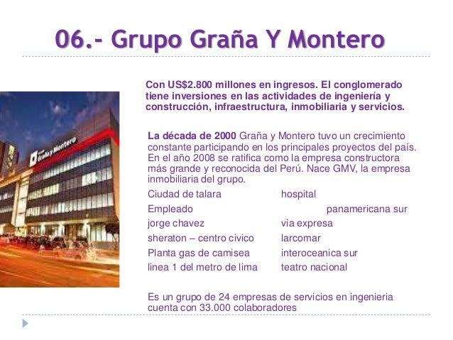 07.- CORPORACIÓN FERREYCORP Con ingresos por US$1.700 millones. Dirigidos por Enrique Ferreyros Ayulo, y Carlos Semsch De ...