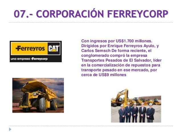 08.- AJE Group Creado por la familia Añaños dirigido ahora por Angel Añaños, con presencia en 23 países de Latinoamérica, ...
