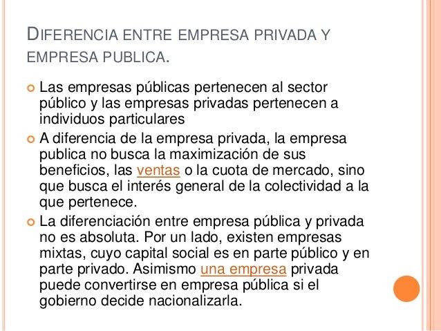 Empresas publicas y privadas for Que es una oficina y sus caracteristicas