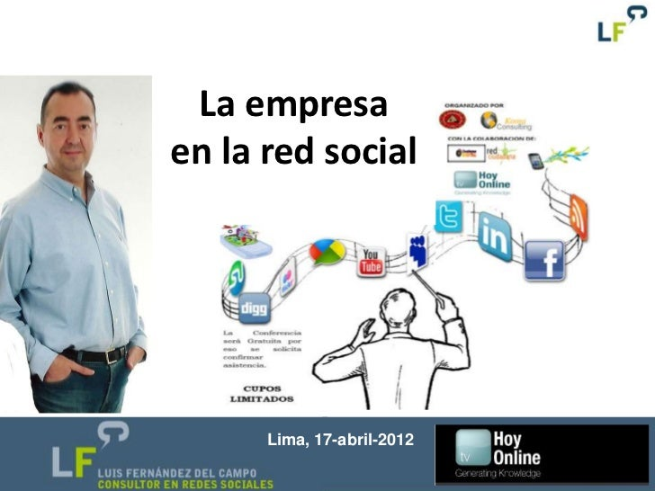 La empresaen la red social      Lima, 17-abril-2012