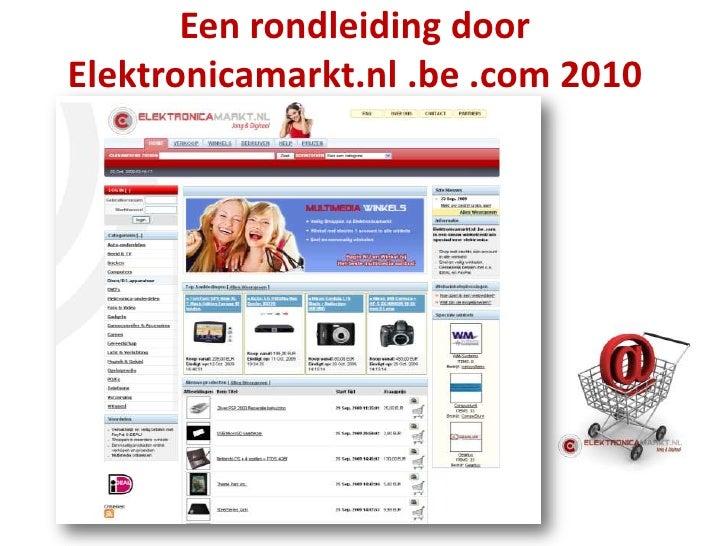 Een rondleiding door Elektronicamarkt.nl .be .com 2010<br />
