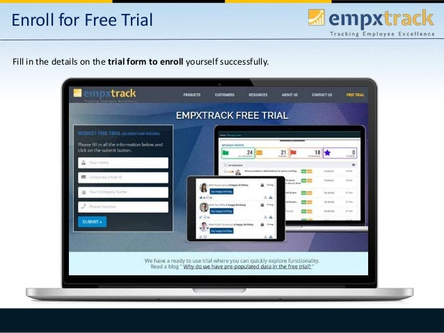 Empxtrack enrollment and initial introduction Slide 2