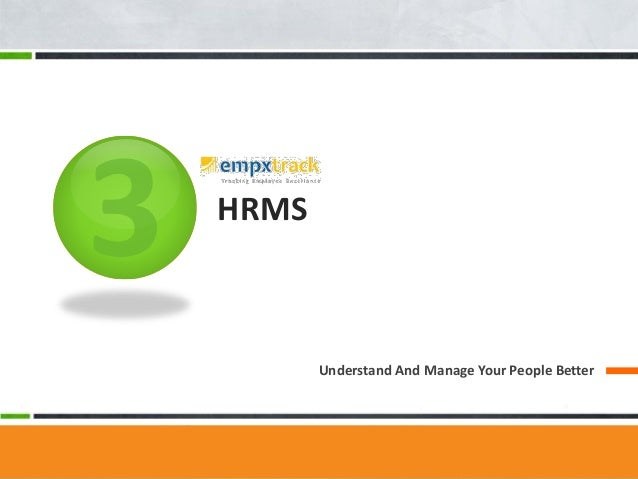HRMS Understand And Manage Your People Better
