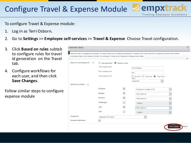 travel and expenses