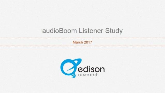 AudioBoom Listener Study