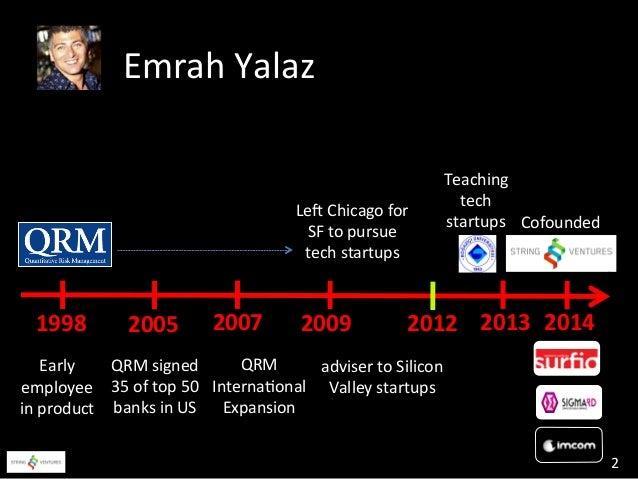 Emrah Yalaz - String Ventures - Turkey - Stanford Engineering - Feb 24 2014 Slide 2