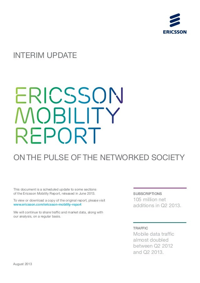 Ericsson Mobility Report Interim Update August 2013
