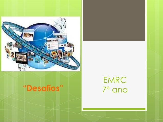 """""""Desafios""""  EMRC 7º ano"""