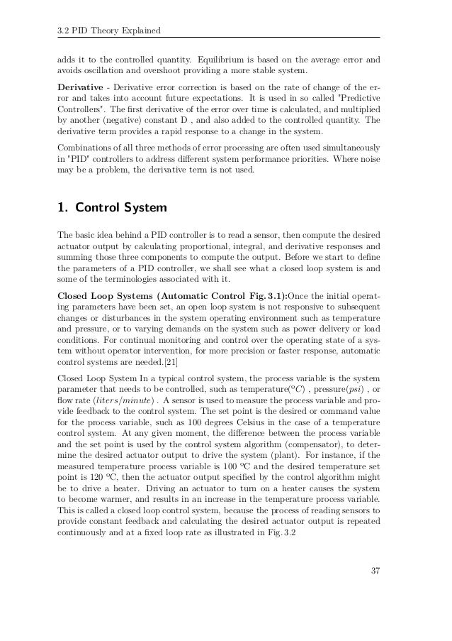 Pid controller tuning thesis