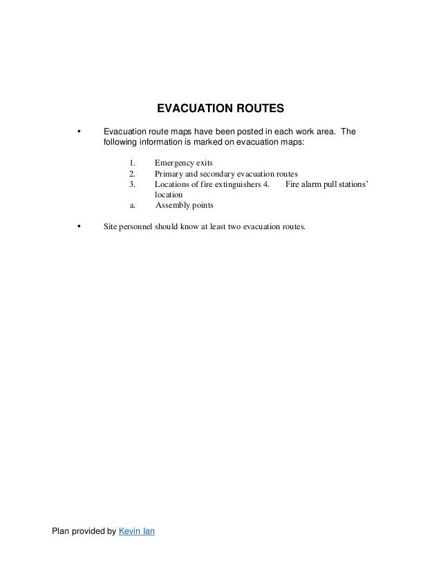 Emergency Action Plan Template – Emergency Action Plan Sample