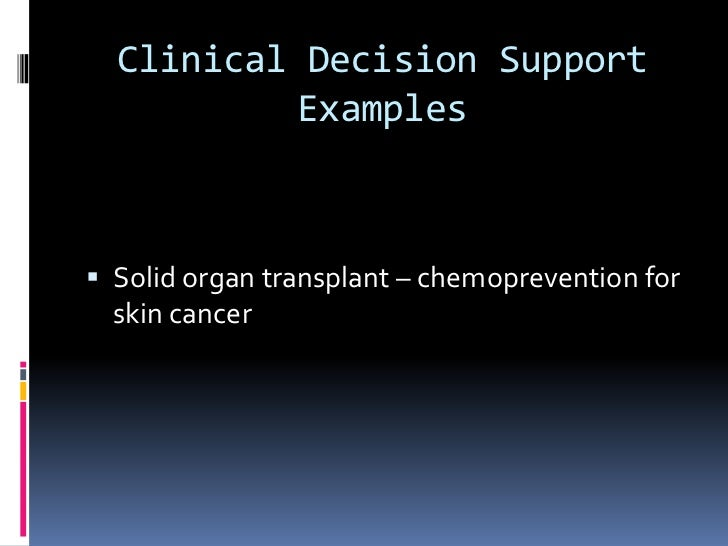 clinical decision support examples solid