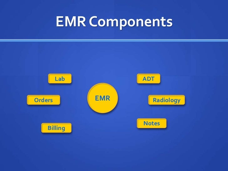 what are the components of a fully functional ehr